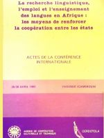 Actes de la conférence internationale de 1983