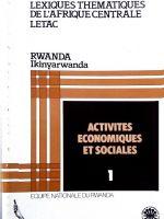 Lexiques thématiques de l'Afrique Centrale LETAC - Rwanda
