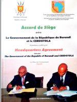 Accord de siège entre le Gouvernement de la République du Burundi et le Cerdotola