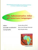 The Administrative Atlas of Cameroon Languages